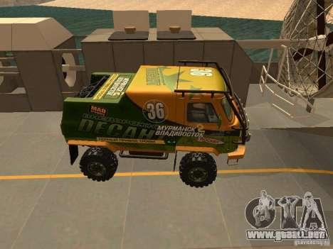 Expedición 2206 UAZ para GTA San Andreas vista hacia atrás