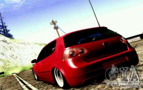 Volkswagen Golf GTI para GTA San Andreas vista hacia atrás