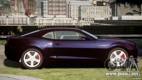 Chevrolet Camaro SS 2009 v2.0 para GTA 4 Vista posterior izquierda
