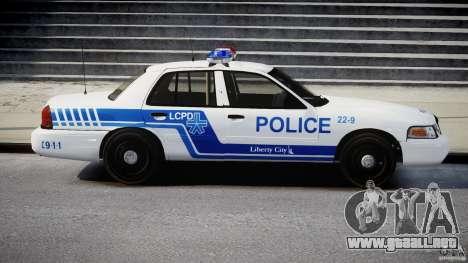 Ford Crown Victoria CVPI-V4.4M [ELS] para GTA 4 vista hacia atrás