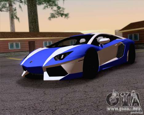 Lamborghini Aventador LP700-4 2011 para el motor de GTA San Andreas