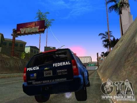 Chevrolet Tahoe 2008 Police Federal para la visión correcta GTA San Andreas