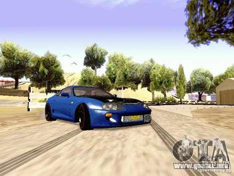 Toyota Supra Drift Edition para GTA San Andreas vista posterior izquierda