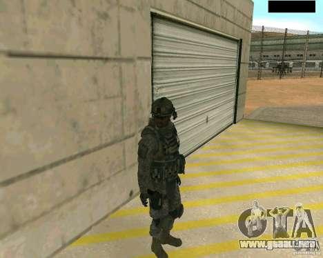 Piel del soldado de CODMW 2 para GTA San Andreas segunda pantalla