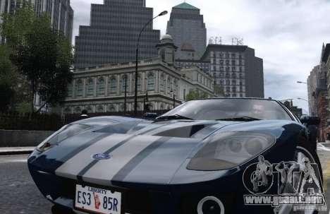 Ford GT 2005 para GTA 4 Vista posterior izquierda
