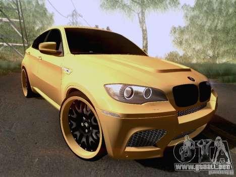 BMW X6M Hamann para vista inferior GTA San Andreas
