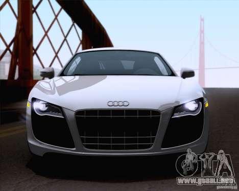 Audi R8 v10 2010 para GTA San Andreas vista posterior izquierda
