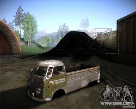 Volkswagen Transporter T1 rat pickup para GTA San Andreas