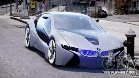 BMW Vision Efficient Dynamics v1.1 para GTA 4 vista hacia atrás