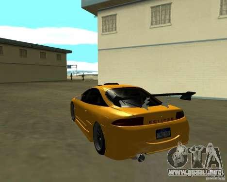 Mitsubushi Eclipse GSX tuning para GTA San Andreas vista posterior izquierda