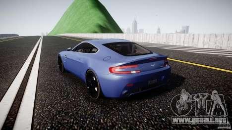 Aston Martin V8 Vantage V1.0 para GTA 4 Vista posterior izquierda