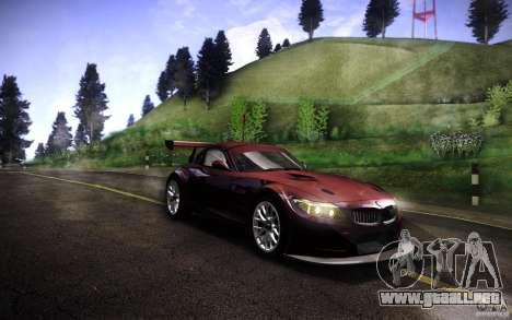 BMW Z4 E89 GT3 2010 para GTA San Andreas vista posterior izquierda