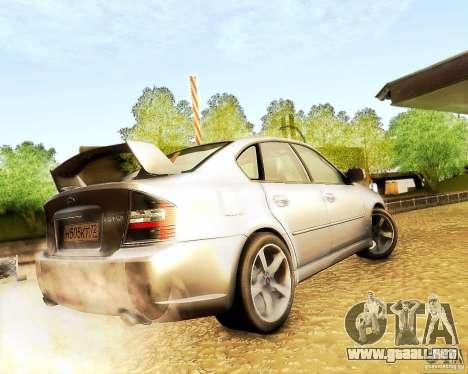 Subaru Legacy 3.0 R tuning para GTA San Andreas vista posterior izquierda