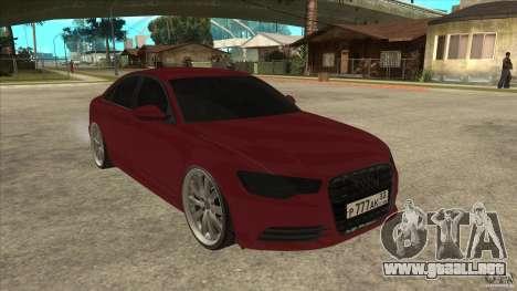 Audi A6 (C7) para GTA San Andreas vista hacia atrás
