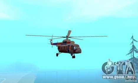 MI-17 civiles (Inglés) para visión interna GTA San Andreas