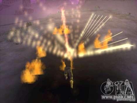 Espada de fuego para c Jay para GTA San Andreas sucesivamente de pantalla
