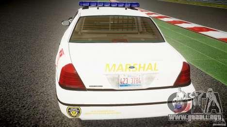 Ford Crown Victoria US Marshal [ELS] para GTA 4 interior