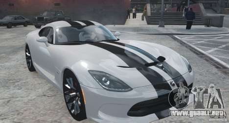 Dodge Viper SRT GTS 2013 para GTA 4 visión correcta