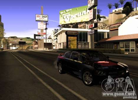 Dodge Charger R/T Daytona para vista inferior GTA San Andreas