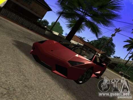 Lamborghini Reventon Roadster para la visión correcta GTA San Andreas