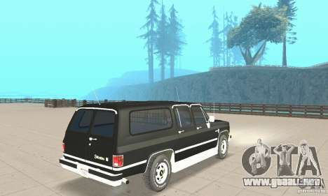 Chevrolet Suburban FBI 1986 para GTA San Andreas left