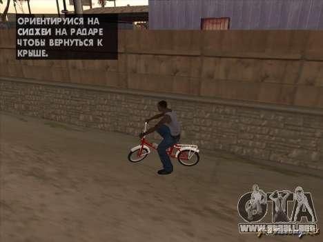 Tair GTA SA de la bici para visión interna GTA San Andreas