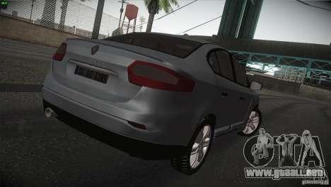 Renault Fluence para la visión correcta GTA San Andreas