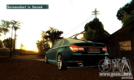 BMW 750Li para vista inferior GTA San Andreas