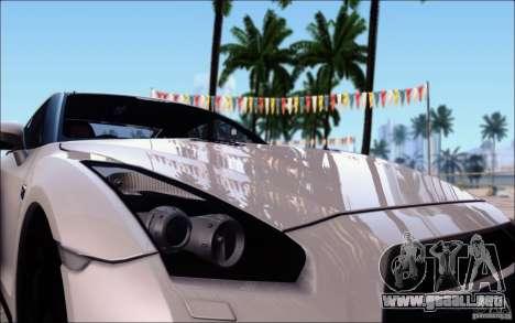 Nissan GTR 2011 egoísta (versión con suciedad) para visión interna GTA San Andreas