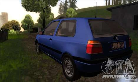 Volkswagen Golf 3 para GTA San Andreas vista posterior izquierda