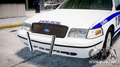 Ford Crown Victoria NYPD para GTA 4 vista superior