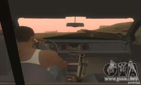 Ford Crown Victoria Indiana Police para GTA San Andreas vista posterior izquierda