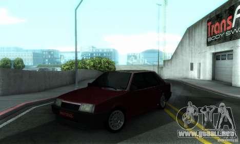 VAZ 21099 PROTOCOLO para la vista superior GTA San Andreas
