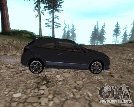 Vauxhall Astra VXR para GTA San Andreas left
