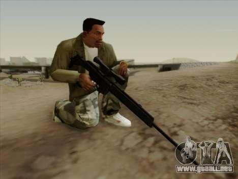 HK PSG 1 para GTA San Andreas tercera pantalla