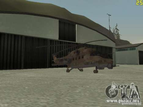 Mi-24P Desert Camo para la vista superior GTA San Andreas
