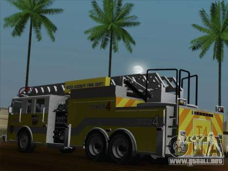 Pierce Arrow XT BCFD Tower Ladder 4 para las ruedas de GTA San Andreas