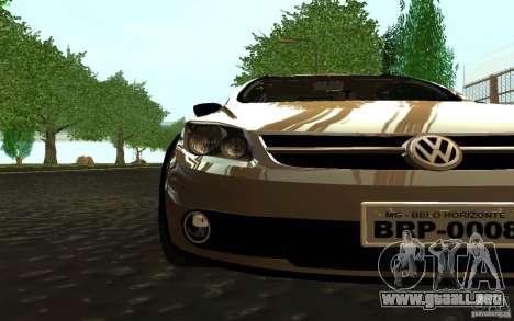 Volkswagen Saveiro para GTA San Andreas vista posterior izquierda