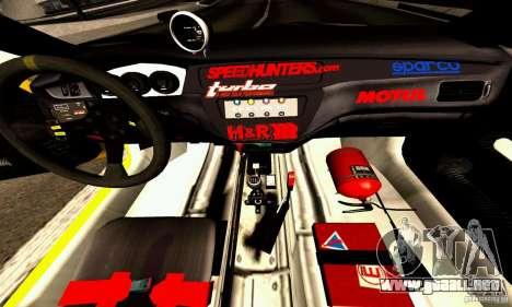 Mitsubishi Lancer Evolution VIII - ProSpeed para visión interna GTA San Andreas
