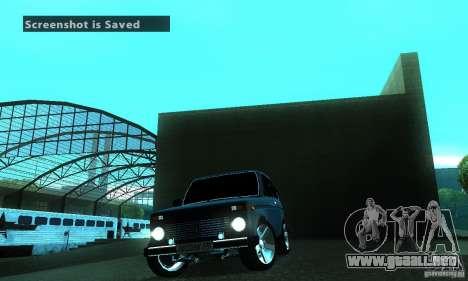 FBI NIVA VAZ 21213 para visión interna GTA San Andreas