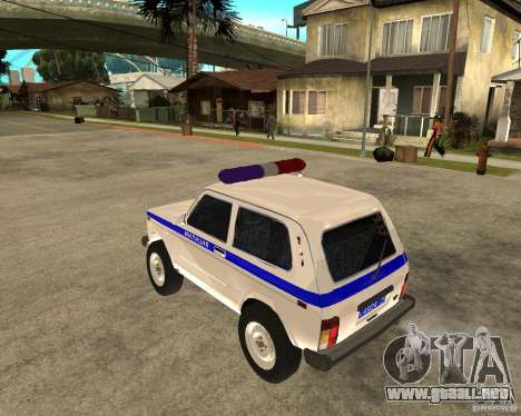 VAZ 2121 policía para GTA San Andreas left