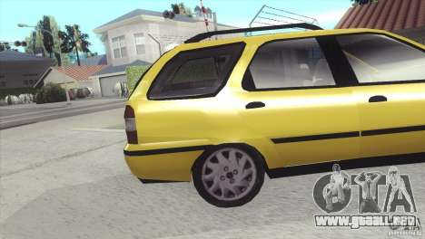 Fiat Palio Weekend 1997 para la visión correcta GTA San Andreas