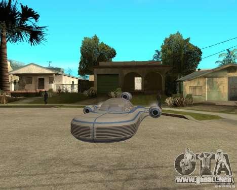 X34 Landspeeder para GTA San Andreas vista hacia atrás