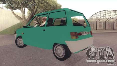 Dacia 500 Lastun para GTA San Andreas vista posterior izquierda