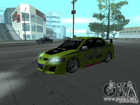 Mitsubishi Lancer Evolution 8 para GTA San Andreas interior