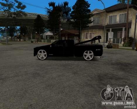 Chevrolet Silverado 1996 Lowrider para GTA San Andreas vista hacia atrás
