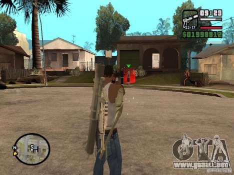 La vista estándar para GTA San Andreas tercera pantalla