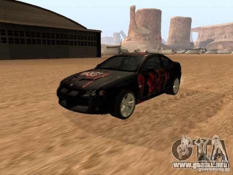 Vauxhall Monaro para vista lateral GTA San Andreas