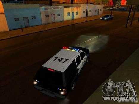 Chevrolet Suburban Los Angeles Police para la vista superior GTA San Andreas