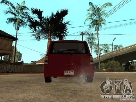 Toyota BB para GTA San Andreas vista posterior izquierda